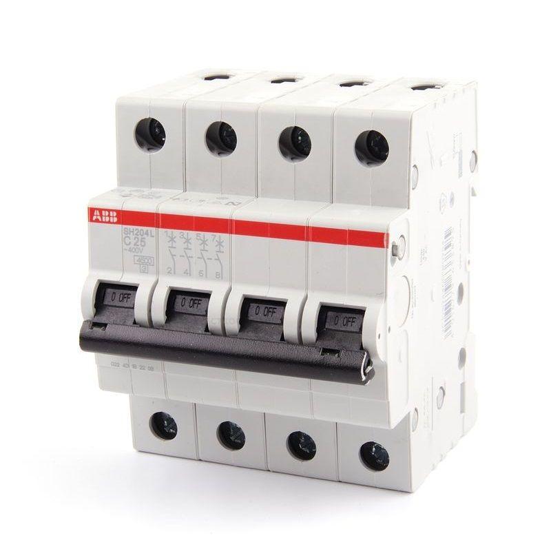 Автомат SH204L C25<br>Бренд: Schneider Electric; Серия: SH204L; Тип конструкции: Модульный; Количество полюсов: Однополюсной; Количество занимаемых модулей: 4; Материал корпуса: Пластик; Способ монтажа: Din-рейка; Номинальный ток: 25 А; Номинальное напряжение: 230 В; Номинальная частота: 50 Гц; Максимальное сечение подключаемого провода: Гибкий - 25 мм?; Электрическая износостойкость: 6000  циклов;