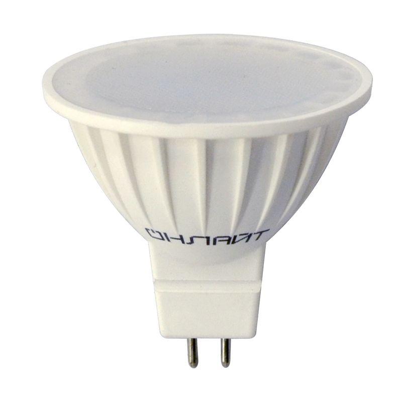 Лампа светодиодная 5Вт GU5.3 теплый свет Онлайт<br>