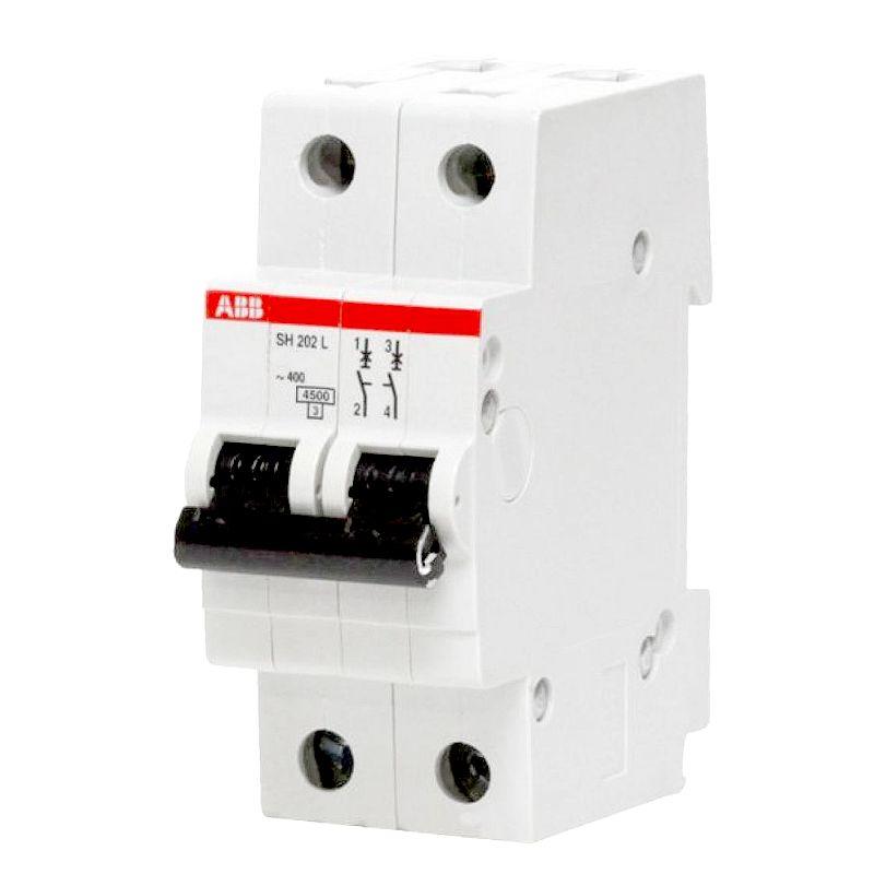 Автоматический выключатель двухполюсной SH202L 4.5кА 16А АВВ