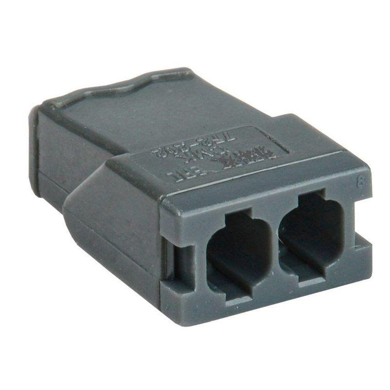 Клемма 2х(0.5-2.5мм) для распред. короб. (с контактн. пастой Alu-Plus) WAGO 2273-242Клемма WAGO 2273-242&amp;nbsp;2х&amp;nbsp;(0.5-2.5)<br><br>Двухзажимный&amp;nbsp;клеммник&amp;nbsp;высокой производительности для электрических соединений профессионального и бытового применения.<br><br>НАЗНАЧЕНИЕ:<br><br>Монтаж и подключение электрических проводников.<br><br>ПРЕИМУЩЕСТВА:<br><br>Высокая производительность (напряжение 400 В);<br>Долговечность (материал &amp;ndash; жаростойкая морозостойкая устойчивая к коррозии пластмасса; защита от воды и пыли);<br>Универсальность (возможно применять вместе с распределительной коробкой для соединения медных, алюминиевых одножильных проводов);<br>Безопасность (защита от выпадения; контактная паста);<br>Удобство в использовании (небольшой вес для моделей данного класса &amp;ndash; 0,03 кг; компактные габариты; два зажима в комплекте).<br>Страна производитель: Китай; Бренд: WAGO; Назначение: Для соединения проводов; Назначение: Для распределительных коробок; Тип зажима: Плоско-пружинный зажим; Артикул: 2273-242; Количество зажимов: 2; Сечение провода: 0,5-2,5 мм?; Номинальный ток: 24 А; Номинальное напряжение: 450 В; Наличие пасты: Да; Материал корпуса: Самозатухающий пластик; Температура эксплуатации: До 105 °C; Высота: 5,8 мм; Ширина: 10 мм; Длина: 16,7 мм; Количество в упаковке: 50 шт;