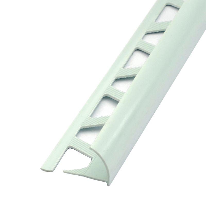 Закладка наруж.Е9-10 д/кафеля 2,5 м (светло-салатовый)<br>Высота: 9-10 мм; Длина: 2,5 м; Цвет: Зеленый; Материал: ПВХ;