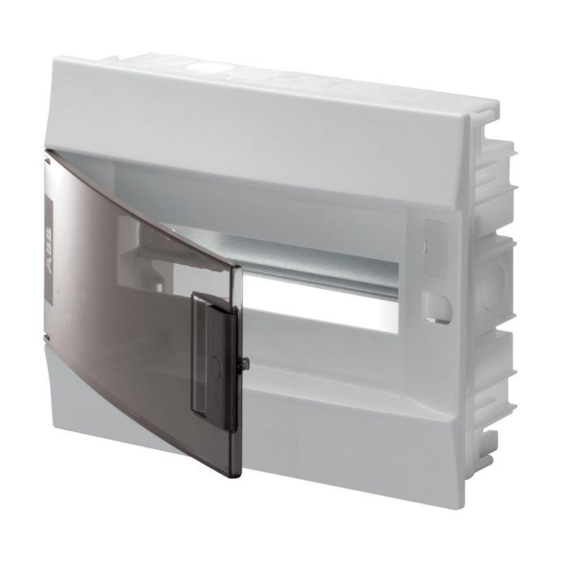 Щит распределительный встраиваемый прозрачная дверь (c клемм) П-12 ABBВысота: 250 мм<br>Ширина: 320 мм<br>Глубина: 108 мм<br><br>Страна производитель: Россия; Бренд: ABB; Модель: (С КЛЕММАМИ) П-12 АВВ; Цвет: Белый; Высота: 250 мм; Ширина: 108 мм; Длина: 320 мм; Область применения: В помещение; Вид распределительного щита: Групповой; Вид распределительного щита: Квартирный; Тип корпуса: Бокс; Способ монтажа: Встраиваемый; Материал корпуса: Пластик; Количество модулей: 12; Наличие din-рейки: Нет; Количество рядов din-реек: 1; Номинальный ток: 63 А; Номинальное напряжение: 400 В; Комплектация: Прозрачная дверца; Степень защиты: IP 41; Минимальная температура эксплуатации: -25 °C; Максимальная температура эксплуатации: +60 °C;