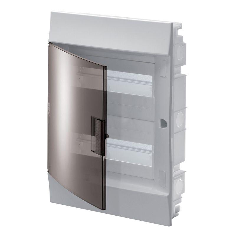 Щит распределительный встраиваемый прозрачная дверь (c клемм) П-24 ABBВысота: 435 мм<br>Ширина: 320 мм<br>Глубина: 108 мм<br><br>Страна производитель: Россия; Бренд: ABB; Модель: (С КЛЕММАМИ) П-24 АВВ; Цвет: Белый; Высота: 435 мм; Ширина: 108 мм; Длина: 320 мм; Область применения: В помещение; Вид распределительного щита: Групповой; Вид распределительного щита: Квартирный; Тип корпуса: Бокс; Способ монтажа: Встраиваемый; Материал корпуса: Пластик; Количество модулей: 24; Наличие din-рейки: Нет; Количество рядов din-реек: 2; Номинальный ток: 125 А; Номинальное напряжение: 400 В; Комплектация: Прозрачная дверца; Степень защиты: IP 65; Минимальная температура эксплуатации: -25 °C; Максимальная температура эксплуатации: +60 °C;