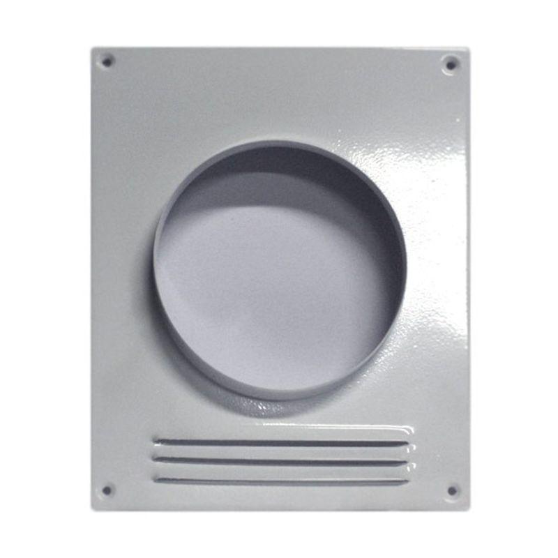 Фланец прямоугольный с решеткой d=125 Флекси<br>Страна производитель: Россия; Бренд: Флекси; Назначение: Для соединения воздуховодов; Форма воздуховода: Круглый; Материал: Оцинкованная сталь; Высота: 235 мм; Ширина: 195 мм; Диаметр: 125 мм; Цвет: Белый;