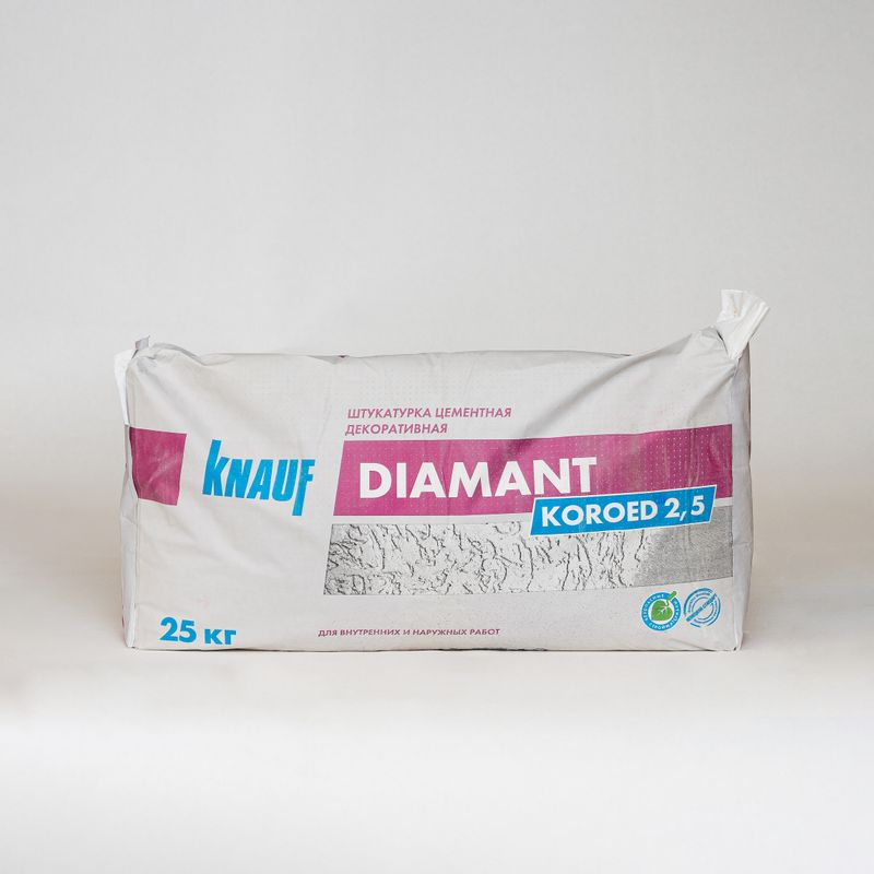 Купить со скидкой Штукатурка декоративная Кнауф Диамант короед (зерно 2,5 мм), 25 кг