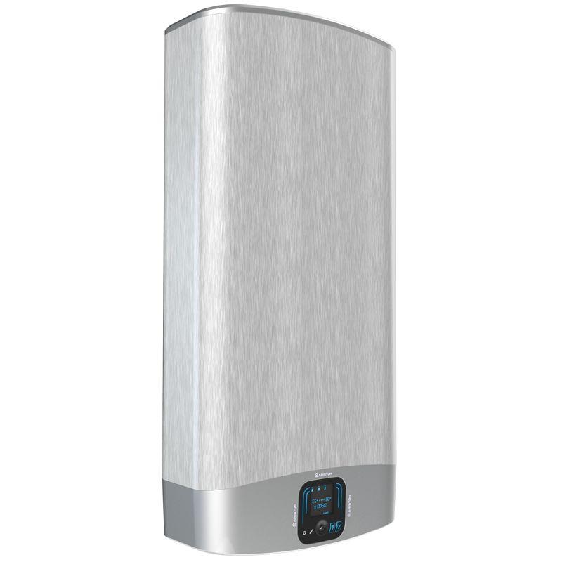 Водонагреватель электрический накопительный Ariston ABS VLS EVO INOX QH 80<br>Объем: 80 л; Тип установки: Вертикальный; Вид водонагревателя: Плоский; Комплектация: С кабелем; Способ установки: Настенный; Мощность: 1,5+1 КВт; Напряжение: 220 В; Тип бака: Нержавеющая сталь; Максимальный нагрев: 80 С; Время нагрева стандарт режим: 186 мин; Присоединительный диаметр:  1/2; Модель: Abs vls evo inox qh; Габариты: 1066*506*275 мм; Вес: 27 кг; Страна производитель: Китай; Гарантия: 7 лет; Бренд: Ariston;