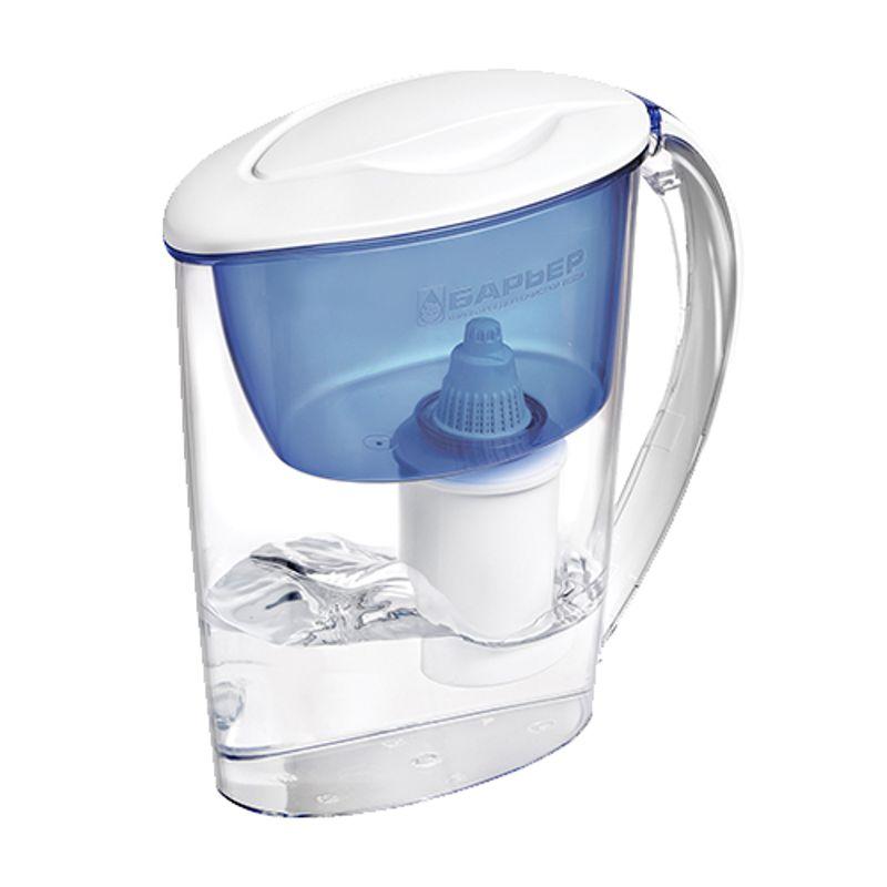 Фильтр-кувшин Барьер-Экстра (индиго)<br>Назначение: Для очистки питьевой воды; Объем кувшина: 2,5 л; Объем воронки фильтра: 1 л; Объем очищенной воды: 1,1 л; Тип кассеты в комплекте: Классик; Ресурс фильтрующего модуля: 200 л; Возможность размещения в дверце холодильника: Да; Наличие и тип индикатора ресурса: Без индикатора; Цвет: Индиго; Бренд: Барьер; Страна производитель: Россия; Модель: Барьер-Экстра;