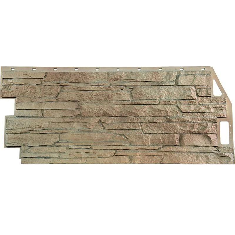 Панель фасадная FineBer Скала песочный 1094х495мм<br>Бренд: FineBer; Длина: 1094 мм; Ширина: 459 мм; Толщина: 10 мм; Материал: Винил; Коллекция: Скала; Полезная площадь: 0,5; Дизайн: Под камень; Цвет: Коричневый; Температура монтажа: От -5 до +50 °С; Температура эксплуатации: От -50 до +50 °С; Срок эксплуатации: 50 лет; Тип монтажа: Горизонтальный; Количество в упаковке: 10 шт; Фактура: Рельефная; Цвет производителя: Песочный; Вес: 3 кг;