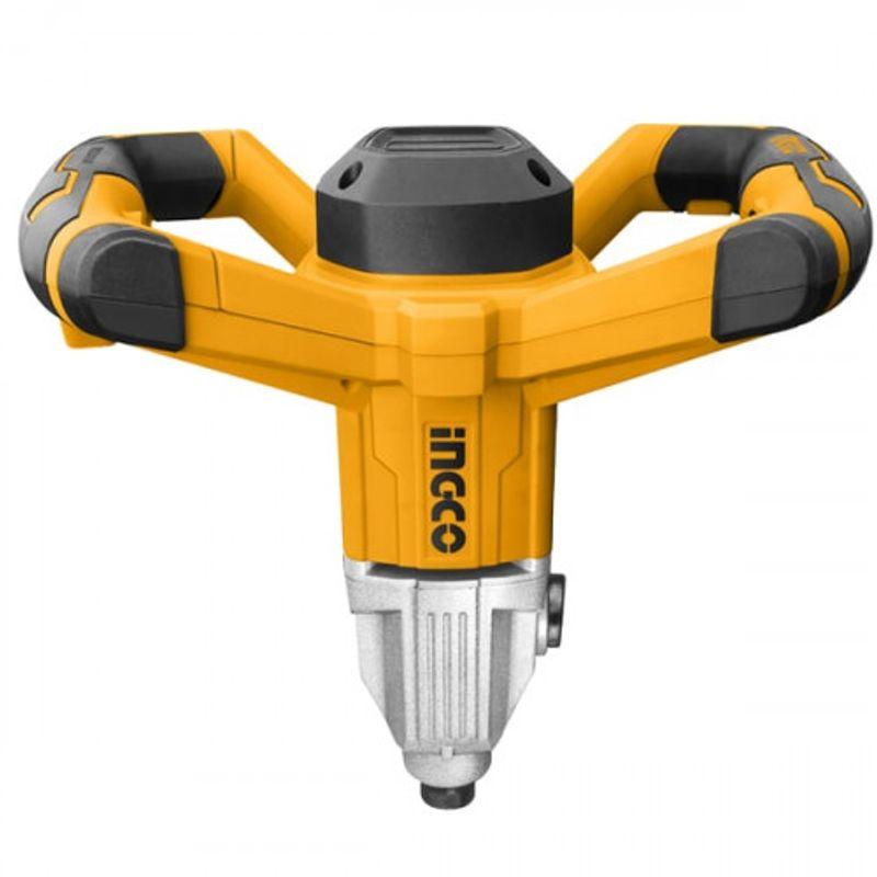 Миксер строительный INGCO INDUSTRIAL MX214001Мощность: 1400 Вт;<br>Обороты: 180-460/300-700 об/мин;<br>Хвостовик венчика: M 14;<br>Комплектуется венчиком ? 120 мм<br><br>Строительный миксер INGCO MX 214001 INDUSTRIAL- это профессиональный инструмент для работы со строительными смесями разной плотности. Модель оснащена мощным и надежным двигателем, который способен выдерживать сильные нагрузки в течение длительного времени без перерыва.<br><br>Строительный миксер INGCO MX 214001 INDUSTRIAL имеет два скоростных режима. В каждом из них Вы можете плавно регулировать скорость вращения венчика, что позволит Вам подобрать оптимальный режим для работы со смесями различной вязкости, а так же продлит срок службы инструмента.<br><br>Две эргономичные рукояти обеспечивают надежных хват и отличную управляемость инструментом. Алюминиевый корпус инструмента обеспечивает надежность в эксплуатации, а так же защищает миксер от поломок. Алюминиевый корпус редуктора обеспечивает отличное отведение тепла при работе под нагрузкой, защищает от поломок, связанных с перегревом, и продлевает срок службы инструмента.<br><br>Строительный миксер INGCO MX 214001 INDUSTRIAL имеет шпиндель с резьбой М14, что позволяет производить замену насадок быстро и без лишних усилий. Комплектуется венчиком ? 120 мм.<br>Бренд: Ingco; Модель: Mx214001 industrial; Тип: Миксер; Тип патрона: М14; Количество шпинделей: 1; Количество скоростей: 2; Мощность: 1400 Вт; Напряжение: 220 В; Макс. скорость вращения: 700 об/мин; Длина сетевого кабеля: 2 м; Дополнительные функции: Регулировка числа оборотов; Комплектация: Миксер; Комплектация: Инструкция; Комплектация: Кейс; Вес: 6,15 кг; Родина бренда: КИТАЙ; Страна производитель: КИТАЙ; Гарантия: 12 мес;