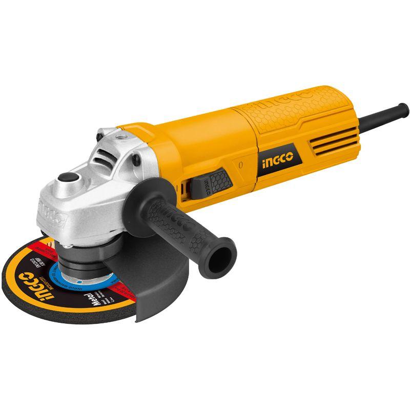 Шлифмашина угловая INGCO INDUSTRIAL AG7108УШМ INGCO AG 6518 (650 Вт, 0-11000 об/мин, 115 мм, М14)<br><br>Компактная угловая шлифовальная машина с обрезным кругом диаметром 115<br>мм для бытового использования в ремонтных и демонтажных работах.<br><br>НАЗНАЧЕНИЕ:<br><br>Зачистка абразивными кругами деревянных, каменных, металлических и<br>керамических поверхностей;<br>Шлифование наждачной бумагой;<br>Работа проволочной щеткой (очистка от ржавчины и краски);<br>Распиливание металлических материалов без использования воды;<br><br>ПРЕИМУЩЕСТВА:<br><br>Мощный двигатель (650 Вт, 11.000 об/мин) обеспечивает быстроту<br>выполнения поставленных задач;<br>Удобство эксплуатации (малый вес &amp;ndash; 2,4 кг, прорезиненная накладка на<br>основную рукоять для надежного хвата, дополнительная нескользящая ручка,<br>которая может устанавливаться в трех положениях относительно роторной<br>головки);<br>Блокировка клавиши включения для продолжительной непрерывной работы;<br>Легкая и безопасная смена оснастки благодаря блокировке шпинделя;<br>Плоский корпус для работы в условиях ограниченного пространства;<br>Может использоваться при температурном диапазоне от -10 до +35 &amp;deg;С;<br>Шлифовальный диск в комплекте;<br>Долговечность: вентиляционные отверстия на корпусе двигателя для защиты<br>от перегрева, износостойкие угольные щетки;<br><br>РЕКОМЕНДАЦИИ<br><br>Перед эксплуатацией прибора надевайте защитные очки, наушники и<br>перчатки.<br>Убедитесь, что в рабочей зоне нет скрытых коммуникаций (трубы и/или<br>проводка);<br>Во время работы с инструментом держите безопасную дистанцию до<br>посторонних людей и детей.<br>Не допускайте попадания влаги в прибор.<br>Не используйте прибор для полирования.<br>Храните инструмент в сухом отапливаемом помещении, вне досягаемости<br>детей.<br><br>&amp;nbsp;<br>Серия: Industrial; Бренд: Ingco; Модель: AG6518; Область применения: Бытовой; Тип: Двуручный; Форма основной рукоятки: Прямая; Диаметр диска: 115 мм; Резьба шлифовального шпинделя: М14; Диам