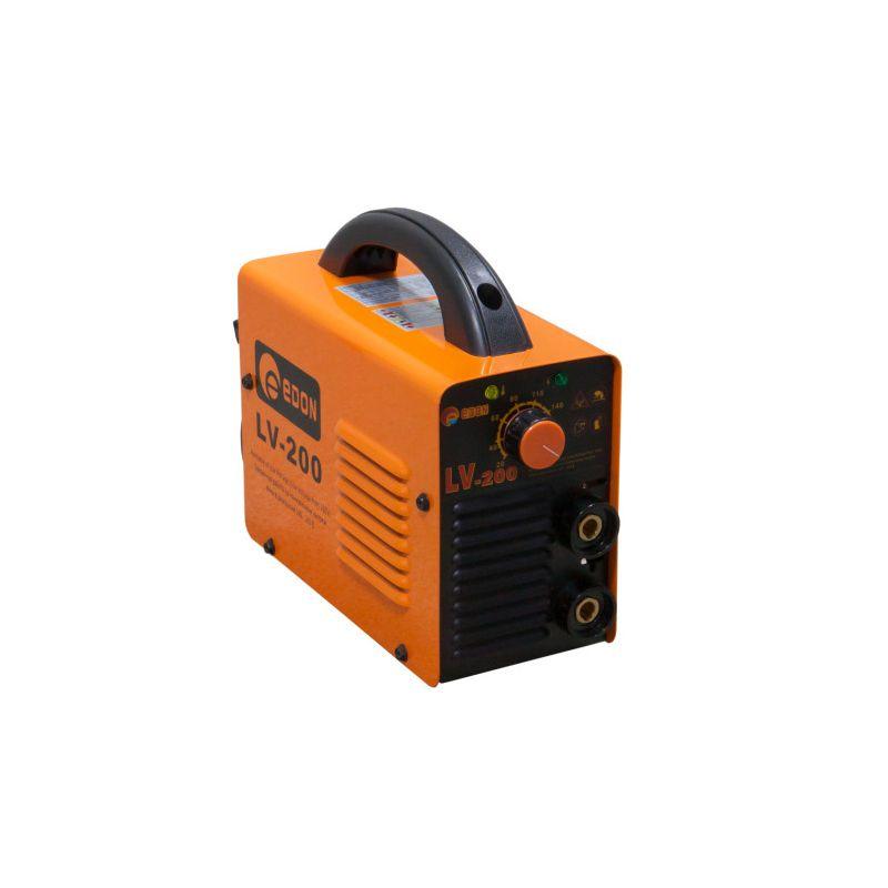 Аппарат сварочный EDON LV200Напряжение сети: 220±15%В;<br>ПН MMA: 40%;<br>Сварочный ток: 20-160 А;<br>Частота: 50/60 Гц;<br>Класс защиты: IP21S;<br>Класс изоляции: F;<br>Диаметр электродов: 1.6-4.0 мм;<br>Мощность: 5.1 кВт;<br>Масса: 3.1 кг;<br>Размеры: 235*110*225 мм;<br>Гарантия: 12 мес.<br><br>Сварочный инвертор EDON LV-200 – это оптимальное решение для бытового использования. Предназначен для сварки на постоянном токе плавящимися электродами. Инверторная технология обеспечивает стабильность напряжения и более качественный плотный шов.<br><br>Имеет минимальное количество настроек, благодаря чему даже начинающий мастер с легкостью справится с работой. Небольшие габариты и вес, а так же удобная ручка на корпусе позволят с легкостью транспортировать сварочный аппарат.<br>Тип: Инвертор; Бренд: Edon; Модель: LV200; Страна производитель: Китай; Область применения: Бытовой; Режим сварки: Без газа; Метод сварки: MMA; Мин. сварочный ток: 20 А; Макс. сварочный ток: 160 А; Режим работы пн: 60 %; Мин. диаметр электрода: 1,6 мм; Макс. диаметр электрода: 4 мм; Напряжение: 220 В; Напряжение холостого хода: 80 В; Макс. мощность: 5,1 кВт; Длина сетевого кабеля: 2 м; Дополнительные функции: Защита IP21S; Комплектация: Инвертор; Гарантия: 12 мес; Вес: 4 кг;