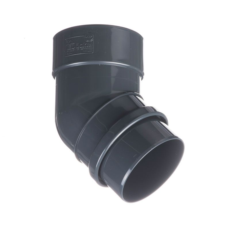 Колено трубы D?cke Lux 45° Графит<br>Бренд: Docke; Коллекция: Lux; Угол изгиба: 45 °; Материал: Пластик; Длина: 185 мм; Толщина: 0,5 мм; Сечение: Круглое; Цвет: Черный; Цвет производителя: Пломбир; Область применения: Для пвх водосточки; Страна производитель: Россия; Вес: 0,19 кг;
