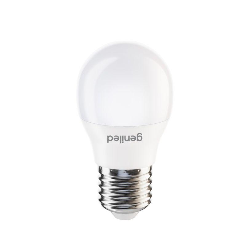 Лампа светодиодная шар 6Вт Е27 холодный свет Geniled<br>Гарантия: 2 года; Страна производитель: Китай; Бренд: Geniled; Назначение: Бытовая; Назначение: Для светильников; Типоразмер цоколя: Е27; Длина: 83 мм; Диаметр: 44 мм; Форма лампы: Вытянутый шар; Цвет лампы: Белая; Цвет свечения: Холодный; Номинальное напряжение: 180-240 В; Потребляемая мощность: 6 Вт; Световой поток: 660 Лм; Цветовая температура: 4200 К; Светорегулирование: Недиммируемая; Срок службы: 40000 ч; Температура эксплуатации: От -20°С до +40°С;
