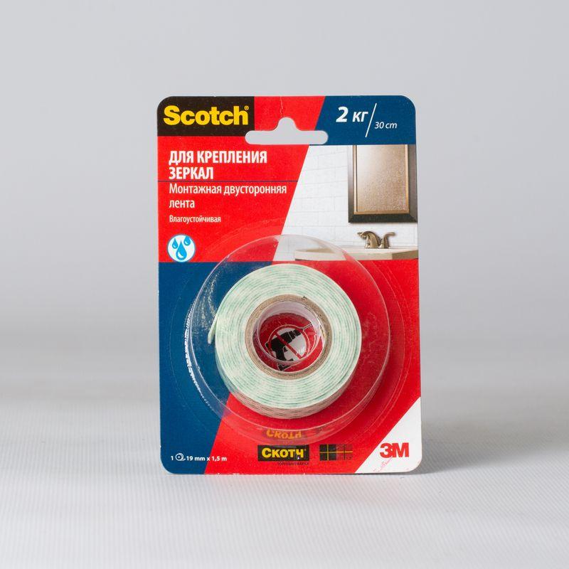 Скотч для крепления зеркал Scotch 4003-1915, 19×1500 мм