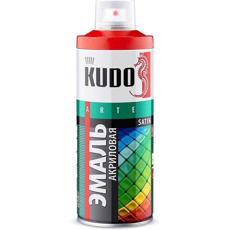 Эмаль аэрозольная KUDO сигнальный фиолетовый (4008), 0,52л<br>Бренд: Kudo; Цвет производителя: Сигнальный фиолетовый; Состав: Акриловая; Тип поверхности: Универсальная;