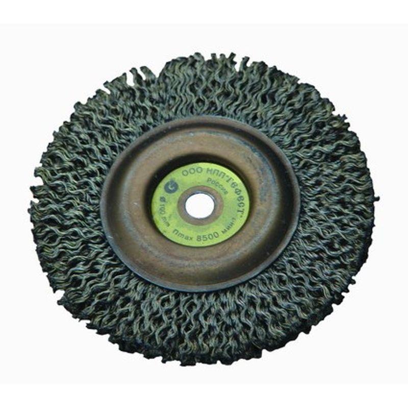Щетка дисковая для УШМ, 150мм/22ммПреднозначена для использования в качестве насадки в угловой шлифовальной машине для зачистки поверхностей от лакокрасочных покрытий<br>, ржавчины, окалины, различных загрязнений с применением значительных усилий, а также для зачистки сварных швов.<br>